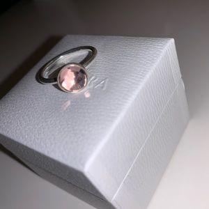 Pink October Birthstone Pandora Ring
